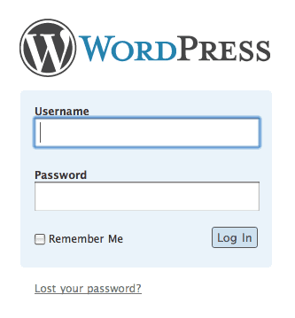 หน้า login wordpress