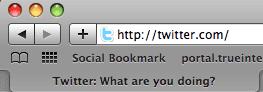 พิมพ์ twitter.com ในช่องที่อยู่เว็บด้านบนสุด