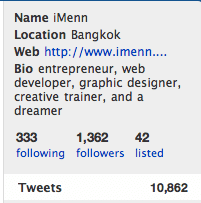 following-follower ของ iMenn