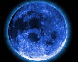 Photo provided - The ?blue moon? appears to be blue in certain years due to dense particles. But for the most part, its name designates its unusualness.