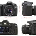 มิติของ Canon EOS 60D ใหม่ เปิดตัวเมื่อ 26 - 8 -10 ที่ผ่านมา